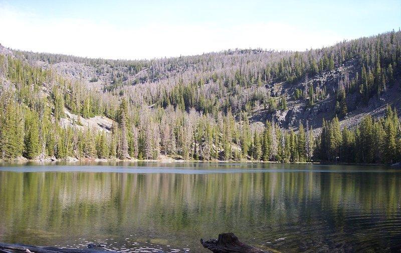 Leslie Lake, at mile 32.