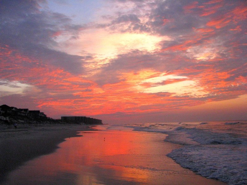 A glorious sunrise on Topsail Island, MST Segment 15B. Photo by PJ Wetzel, www.pjwetzel.com.