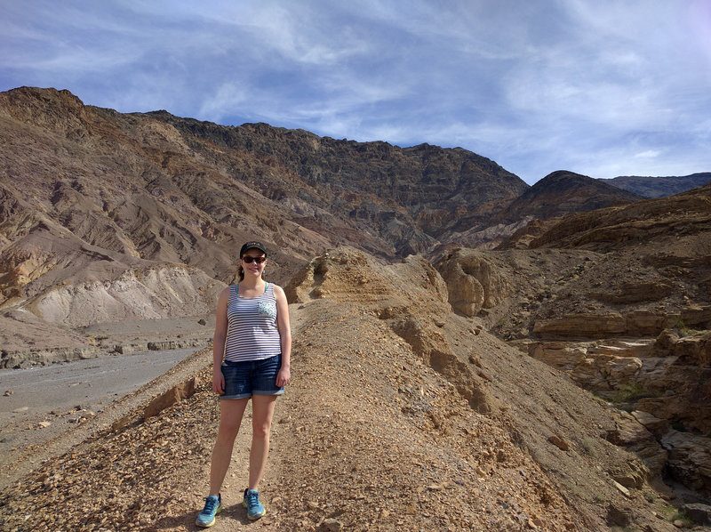 Ready to head back after journeying into Mosaic Canyon.