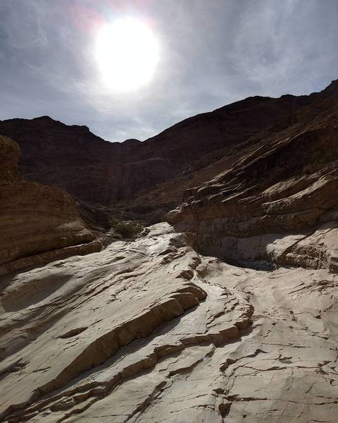 Smooth rock in Mosaic Canyon.