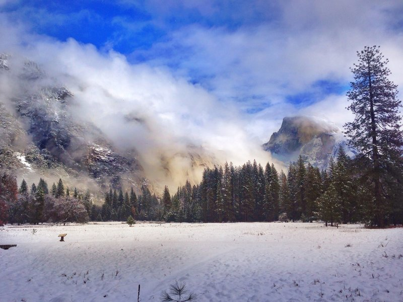 Half Dome after the storm subsides.