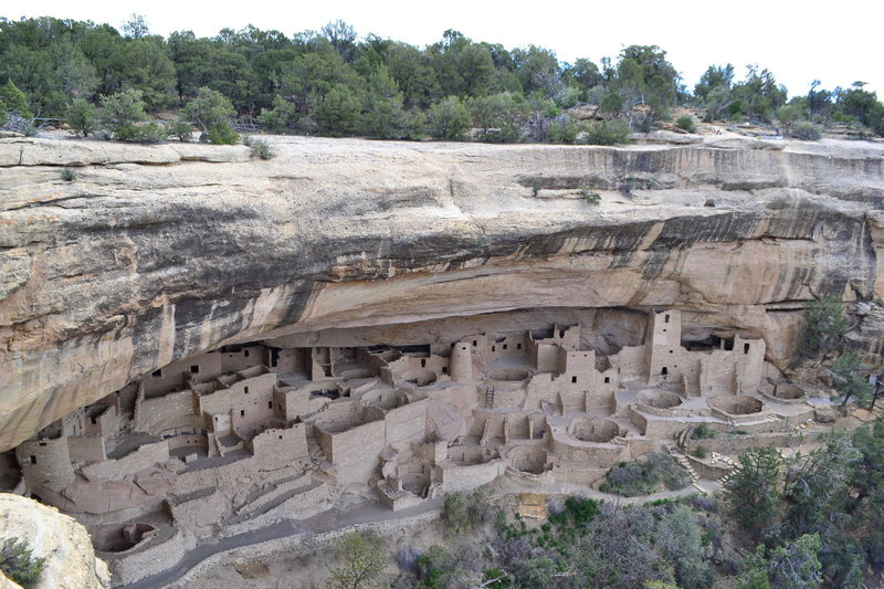 View of Cliff Palace from above. One of those mind blowing experiences when you first come upon this historic settlement. Amazing to think that someone in the past probably stumbled upon this village with no idea that it was there; what an experience!