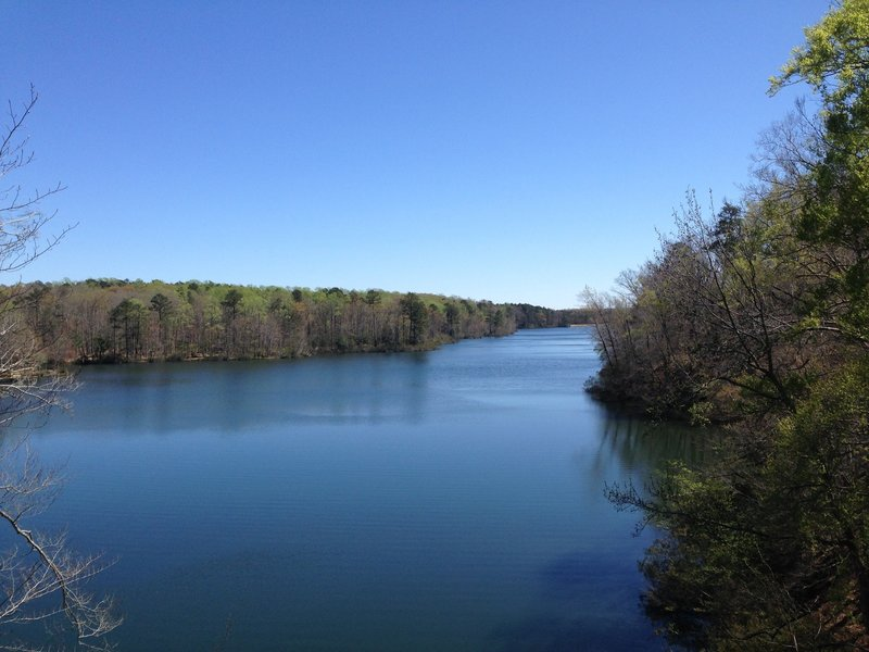 View of reservoir from Lookout Tower Trail.