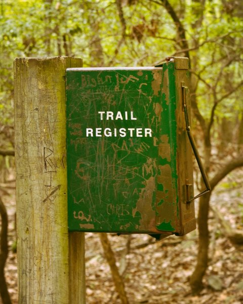 Valley Forge: Mount Misery Trail Register.