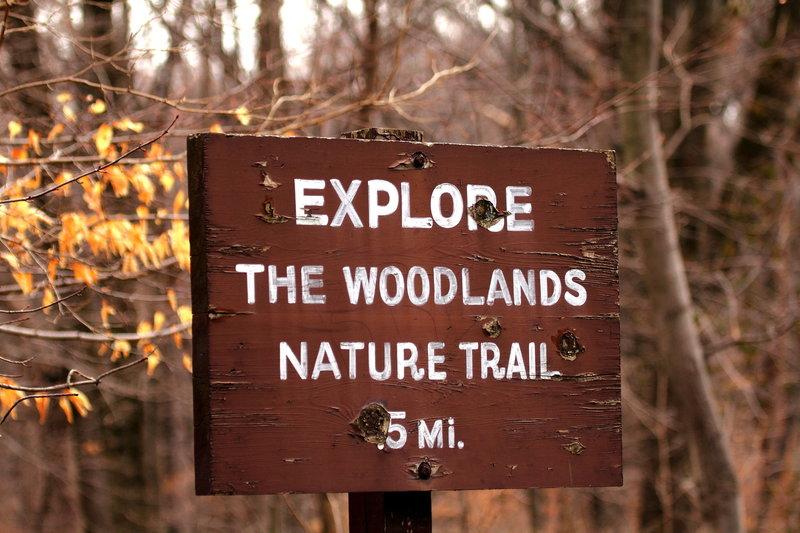 Rock Creek Park Nature Trail sign.