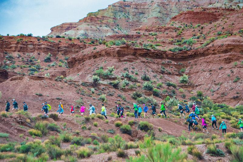 The steep climb to Flying Monkey Mesa