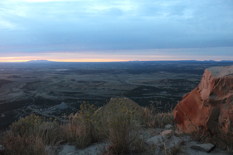View from the Mesa Verde Knife Edge Trail.