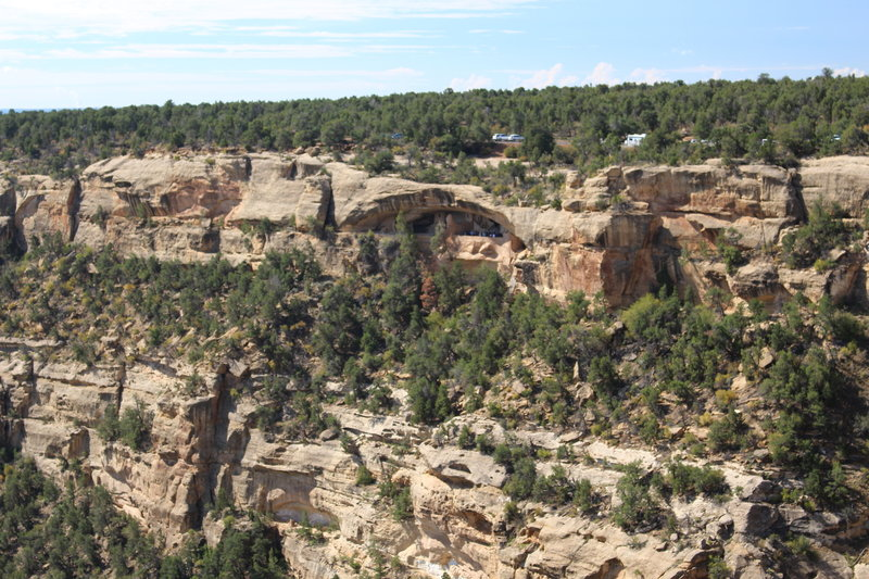 View of Balcony House from the Soda Canyon Overlook Trail.
