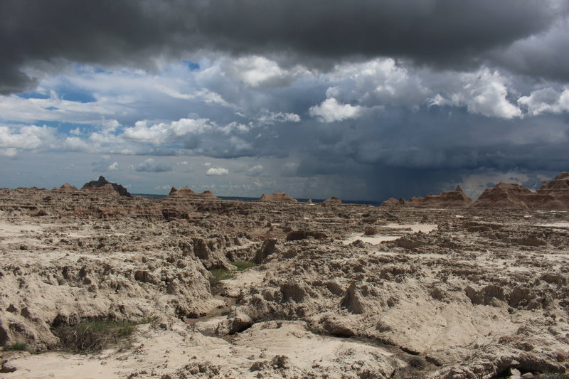 Storm clouds on the Castle Trail.