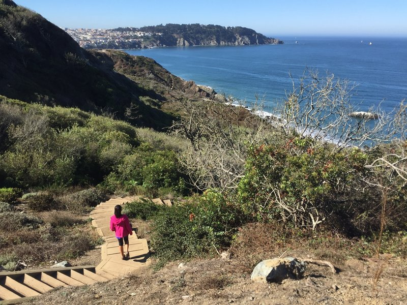 Along the Batteries to Bluffs Trail.