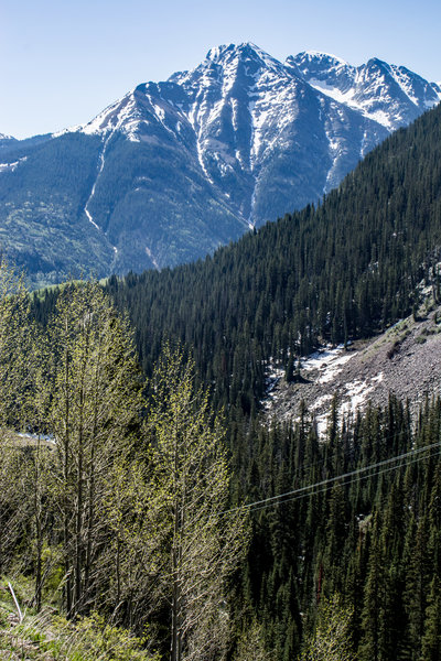 Looking across the valley from the Pass Creek Trail.