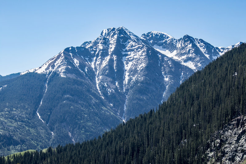 The scenery from the Pass Creek Trail is worth the effort!