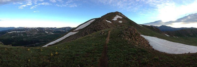 A mountain sunrise near Loveland Pass.