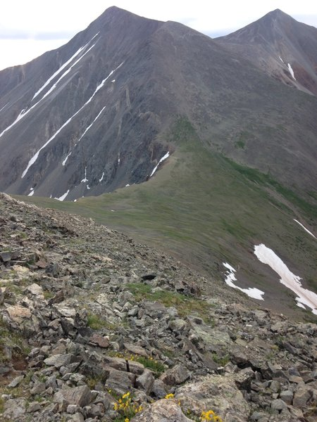This is from Grizzly looking towards Torreys on the left and Grays on the right.