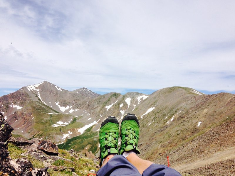Looking back to where these feet have taken me... 1 oclock is Edwards I believe.  Grays and Torreys in the background as well.  Almost done