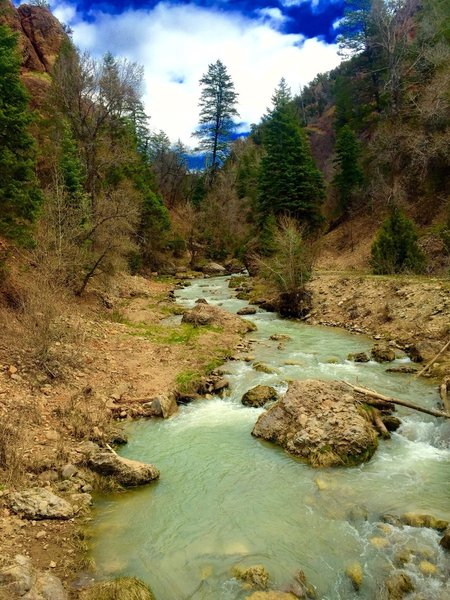 Diamond Fork Hot Springs Trail.