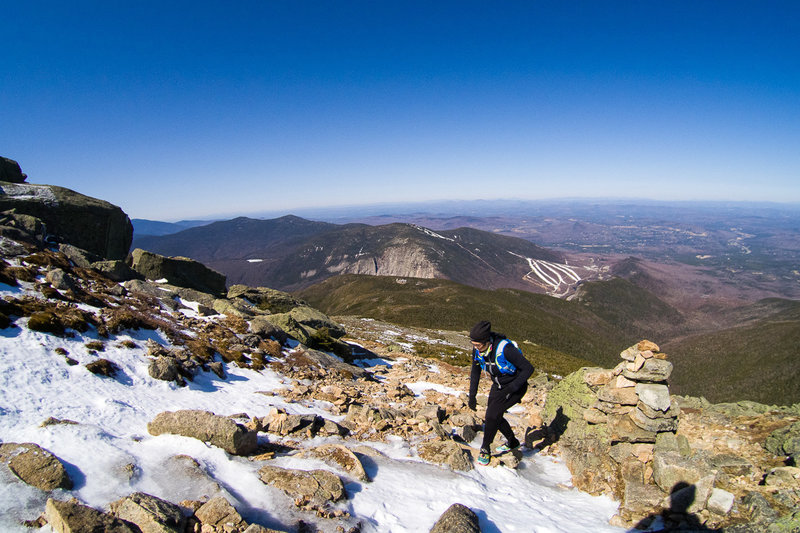 Climbing up the Old Bridle Path up to Mount Lafayette