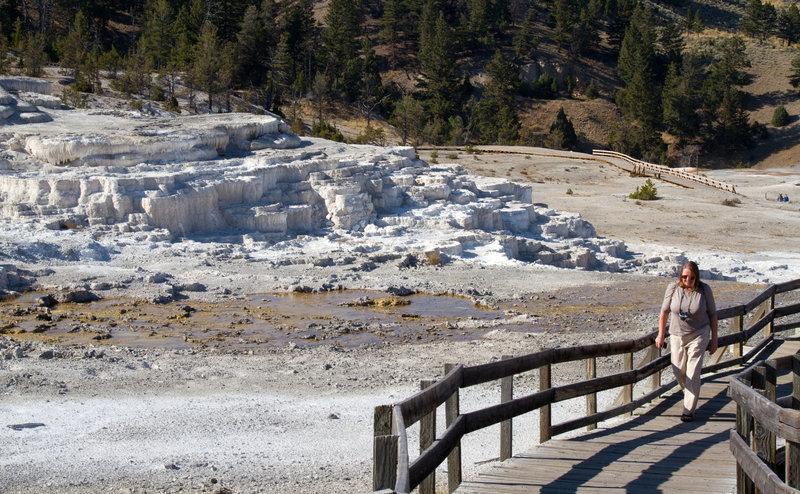 Hiking in Mammoth Springs.