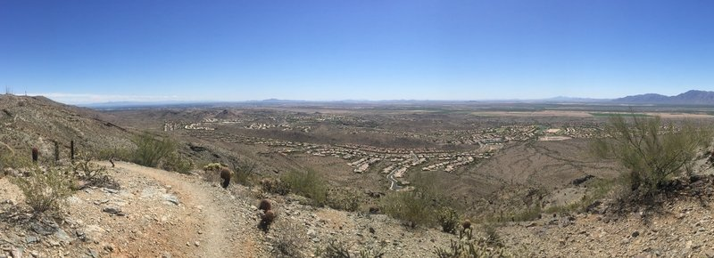 Pano view from the top of the Pyramid Trail.