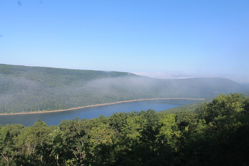 Fog over the Reservoir, from the Rimrock Trail.
