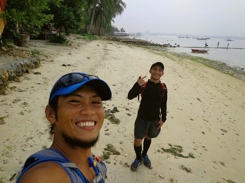 At the start/finish of TP50 race, Samal Island Philippines.