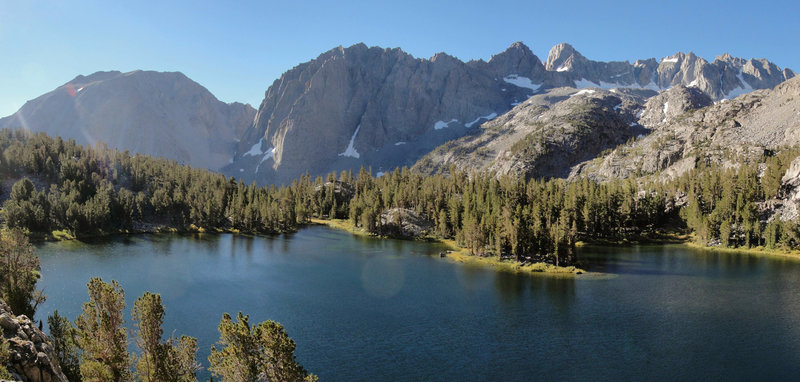 Palisades from Big Pine Lakes Fourth Lake