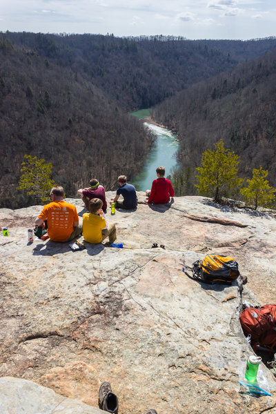 Enjoying the lookout over the Big South Fork Cumberland River.