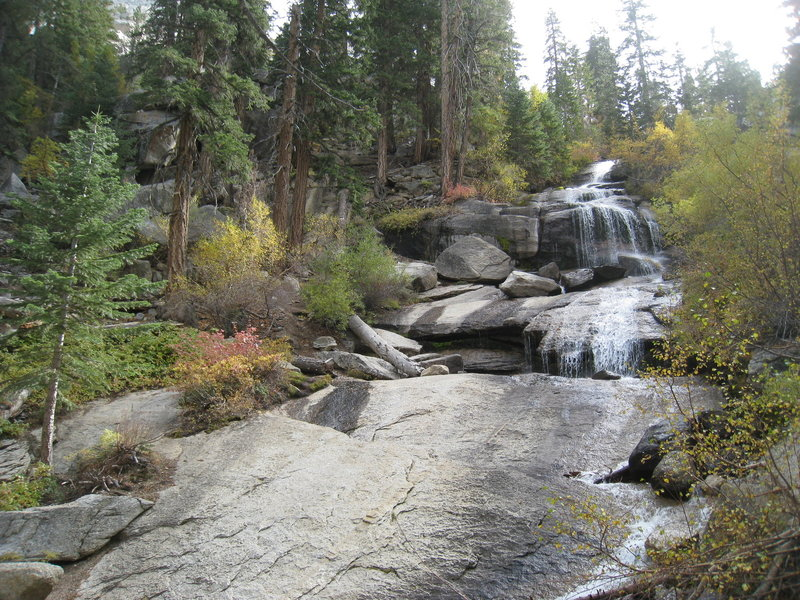 Getting a little off trail to see more of Lone Pine Creek.