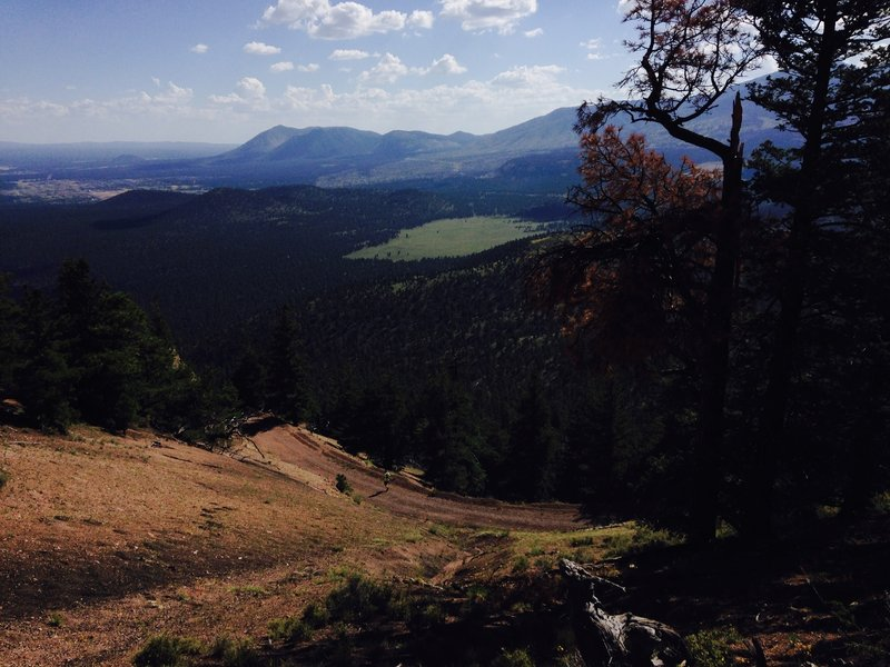 Looking towards Flagstaff and Mt. Elden