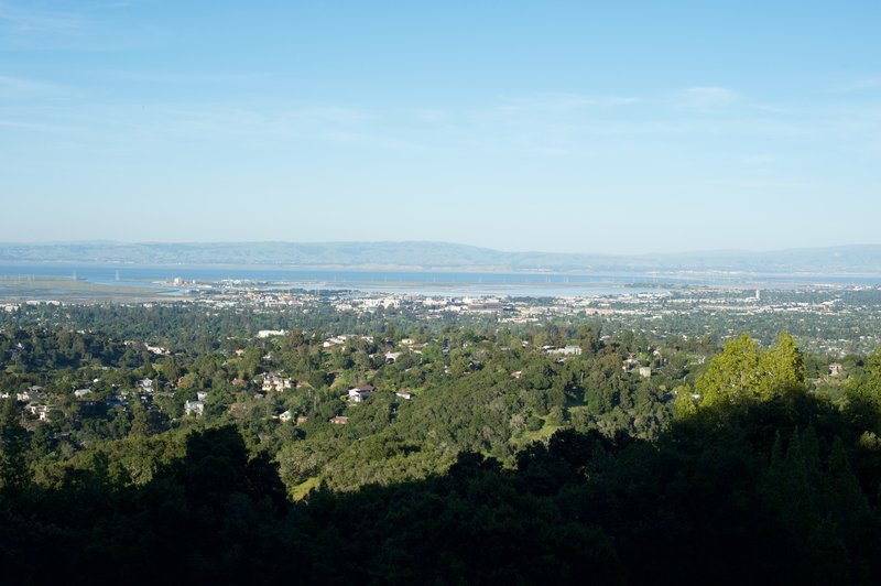Views of the San Fransico Bay from the trail.