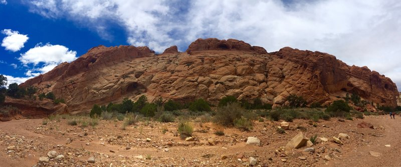 Views in the canyon wash of upper muley twist access road. 4WD/AWD higher clearance vehicles only.