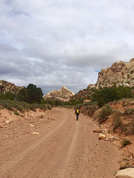 Approaching the trailhead and parking area for 4WD/AWD high clearance vehicles.