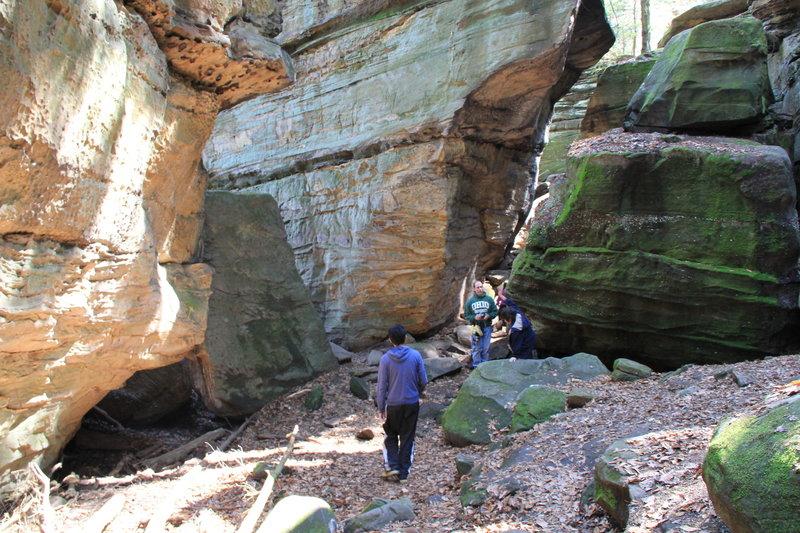Cuyahoga Ledges: Rocky Cliff