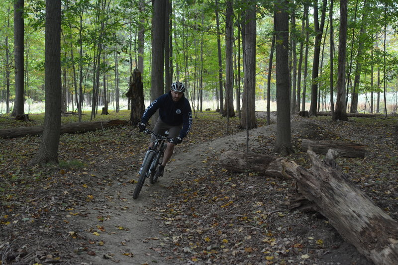One of the first riders on the new trail. Photo by NPS/DJ Reiser