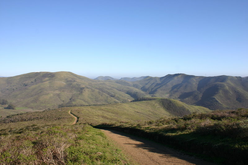 The Miwok Trail above the Tennessee Valley.