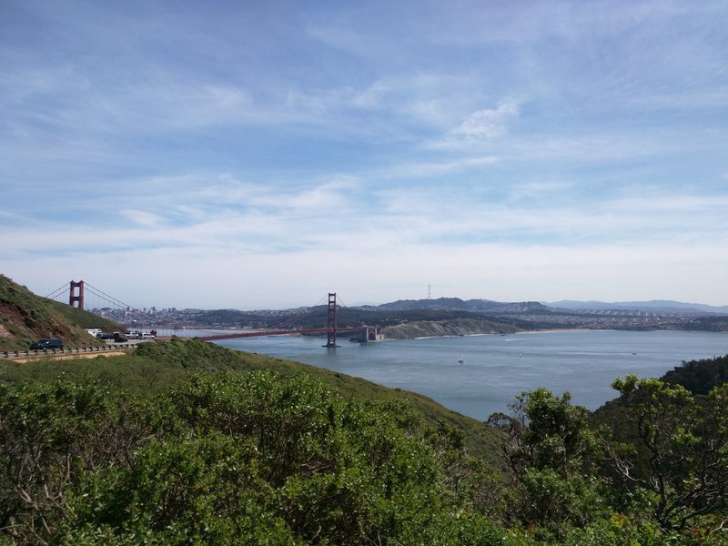 Bridge views can be had in many places on the Headlands.