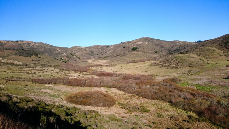 The lower part of the Miwok Trail.