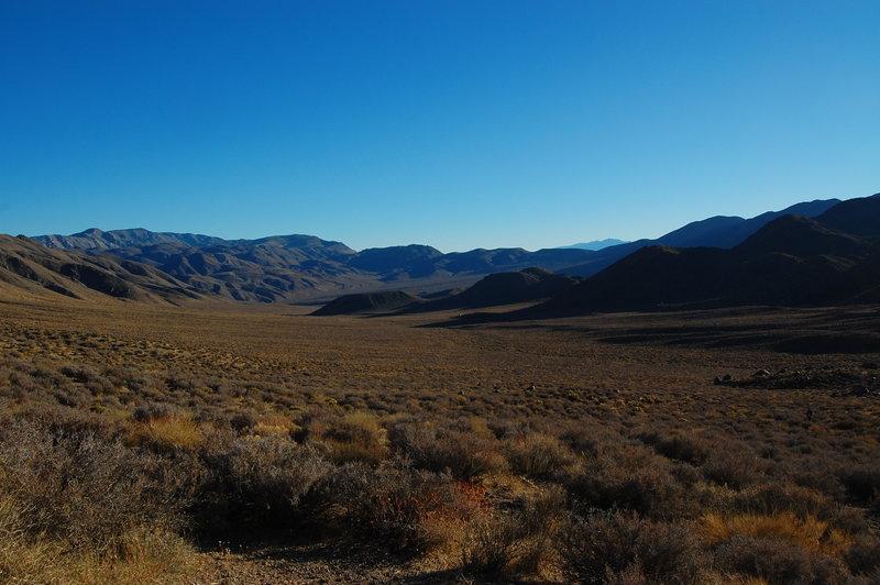 Overlooking the valley.