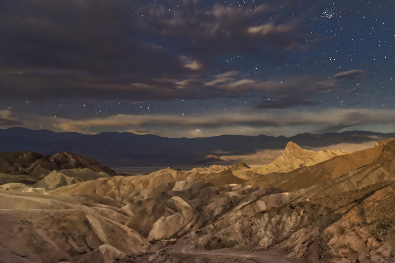 Zabriskie Point by starlight.