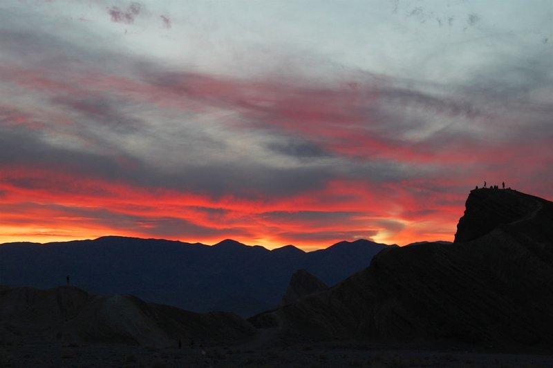 Firey cloud and sky after sunset.