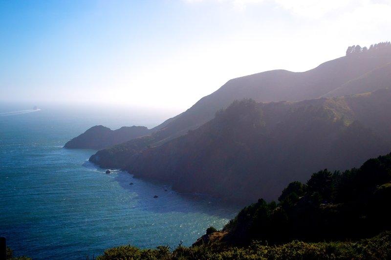 A sunny day near the Golden Gate.