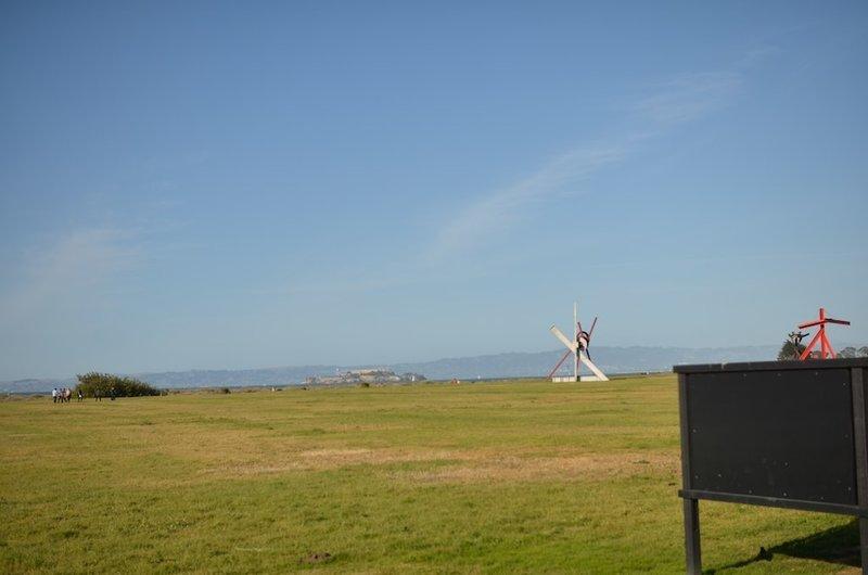 Sculptures in Chrissy Field.