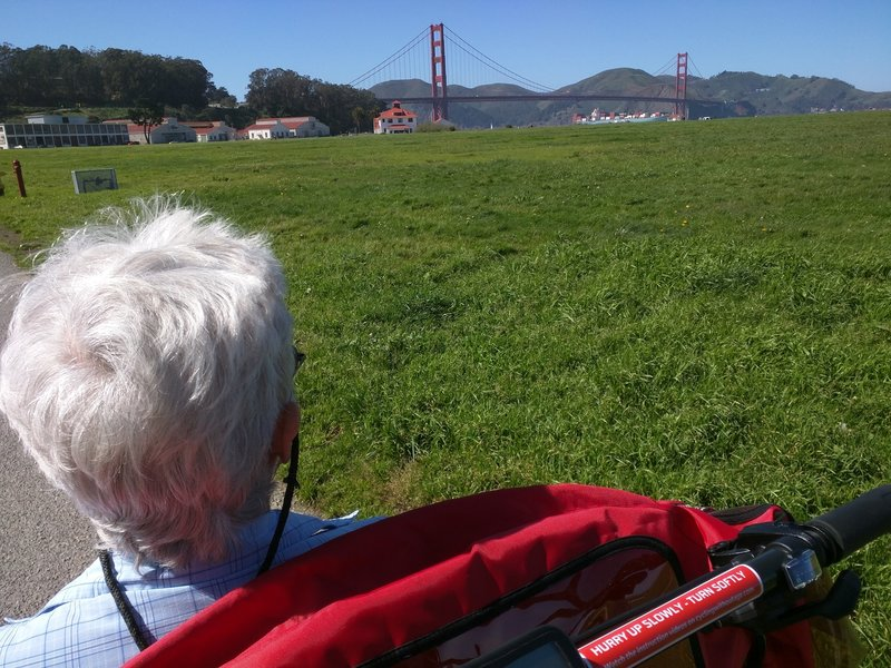 Looking out to the Golden Gate Bridge.