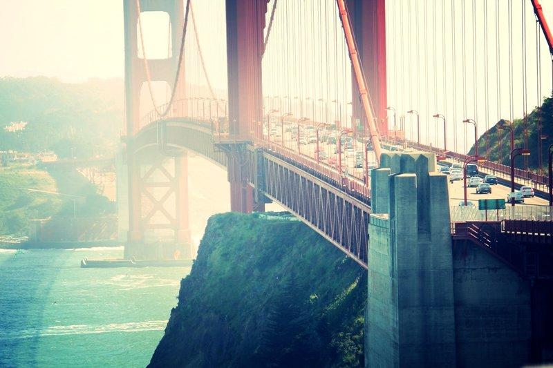 Sunlight on the Golden Gate.