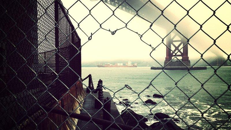 Under the Golden Gate, near Hopper's Hands.