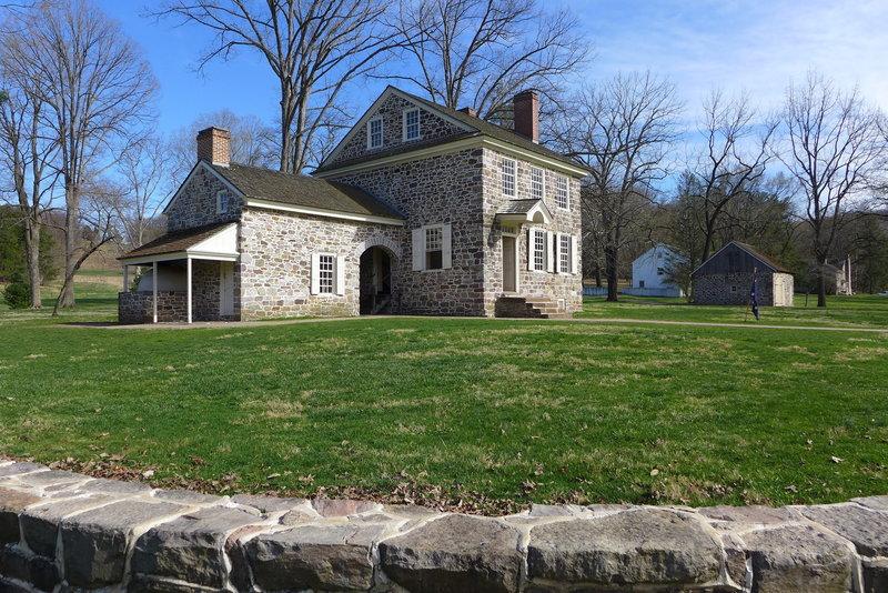 Washington's Headquarters and yard.