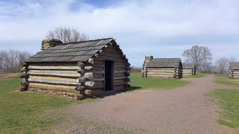 Historic cabins.