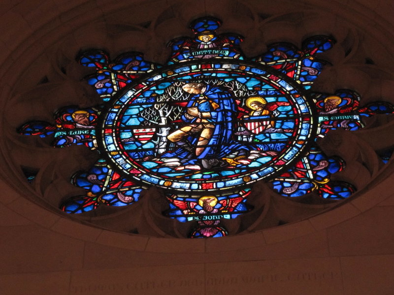 General Washington in stained glass at the chapel.