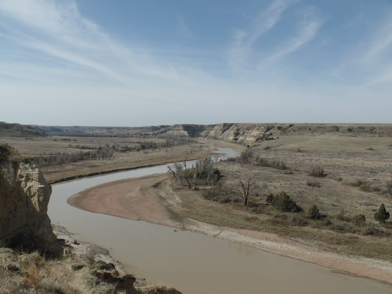Little Missouri River in the South Unit of Theodore Roosevelt National Park