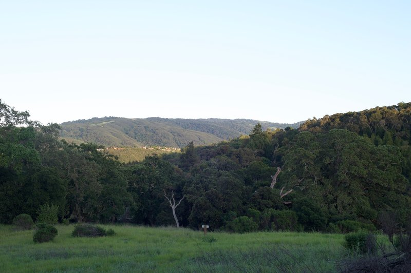Views of the surrounding hills in the evening.
